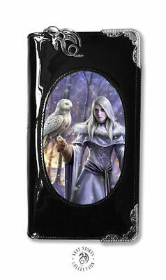 ANNE STOKES World Of 3D Purse Wallet Black PVC Gothic Fantasy  Winter Owl  • 19.99£