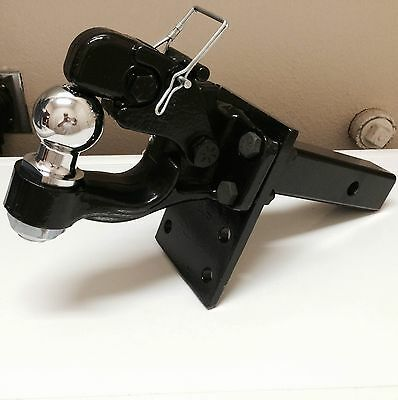 4 Ton PINTLE 2 5/16  Ball + Adjustable Receiver BALL HITCH TOWING Heavy!! • 86$