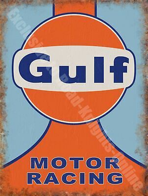 Gulf Motor Racing Team Motorsport Garage Classic Me Metal/Steel Wall Sign • 8.99£