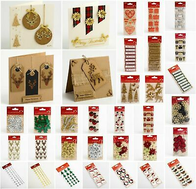 Handcrafted Christmas Craft Decorations - Handmade Card Embellishments • 2.25£