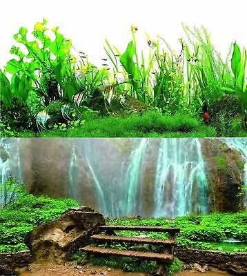 AU14.34 • Buy Aquarium Fish Tank Background Double Sided 16  / 40cm High - 2 To 10 FT Lengths