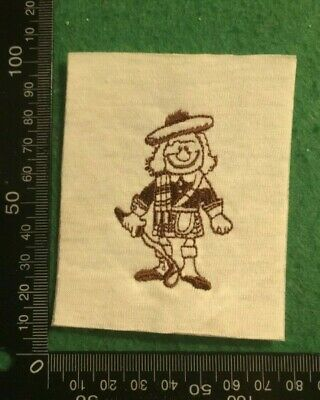 Embroidered Cloth Patch Badge Patchwork - Scottish Golf Player   (dd102) • 4.49£