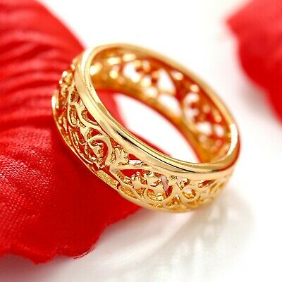 AU9.97 • Buy 18k Plain Gold Filled Celtic Filigree Engagement Wedding Annviersary Band Ring