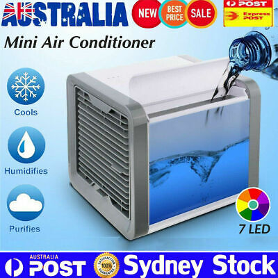 AU15.19 • Buy Portable Air Conditioner Water Cool Cooling Fan Desk Artic LED Cooler Humidifier