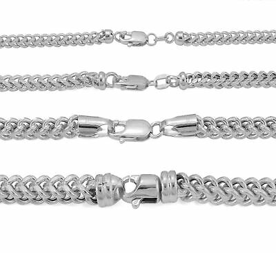 $96.81 • Buy 10K White Gold 1.5mm-3mm Square Wheat Box Franco Chain Pendant Necklace 16 - 30
