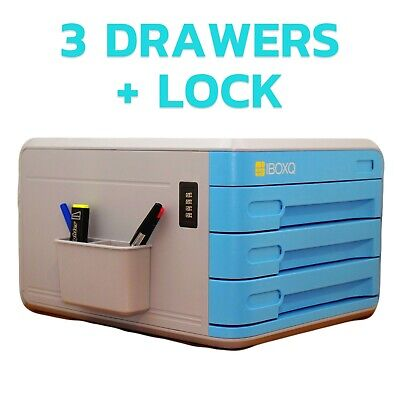 IBoxQ Office Desk Drawers Organizer With A Combination Lock – Keep Your Docume • 49.95£