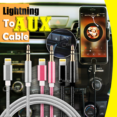 AU7.99 • Buy Lightning To 3.5mm Jack Male Audio AUX Cord Cable IPhone 11 Pro XS Max XR X 8 7