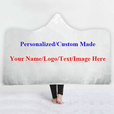 Unique Gift Personalized Custom Made Adult Kids Hooded Blanket Cloak Sofa Throw • 24.99£