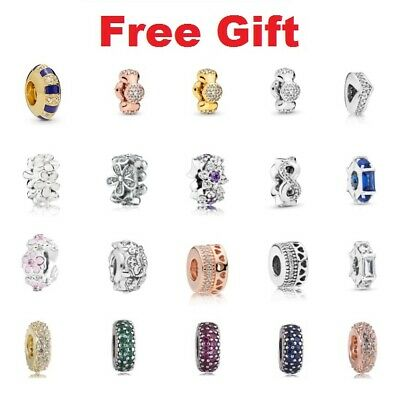 $16.99 • Buy 925 Sterling Silver NEW Sparkle & Multi Color Spacer Charms For Charm Bracelet