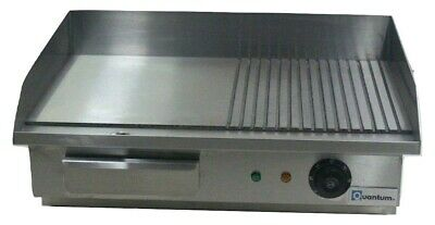 55cm Electric Table Top Griddle Half Ribbed 3kW Commercial Catering GRF55 • 104.49£