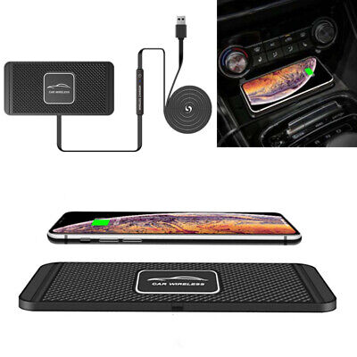 $ CDN28.41 • Buy Qi Fast Car Wireless Phone Charger Pad Non-Slip Mount Holder For IPhone Samsung