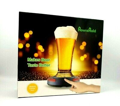 HowseHold Lager Beer Foamer Surger Unit Sonic Beer Foamer Perfect Head Frother  • 24.99£