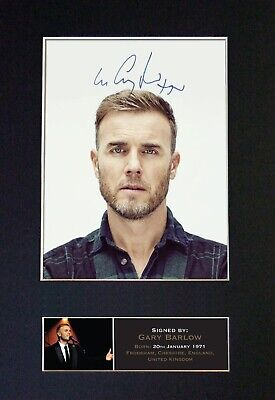 #402 GARY BARLOW Reproduction Signature/Autograph Mounted Signed Photograph A4 • 19.99£