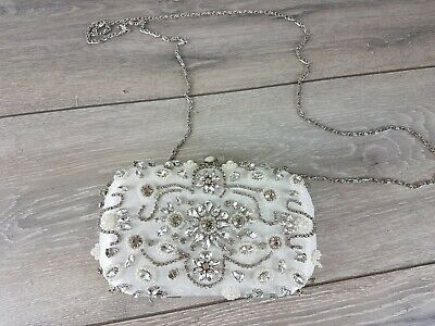 £19.95 • Buy Chi Chi Purse Clutch Bag Hanbag Evening Party Prom Diamonds White B142-4