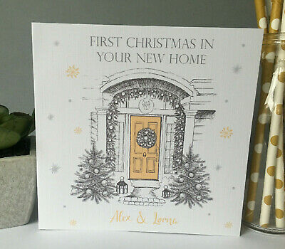 Personalised Christmas Card First Christmas New Home Moving House Friend Sister • 3.99£