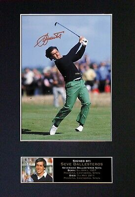 #53 SEVE BALLESTEROS Reproduction Signature/Autograph Mounted Signed Photograph • 19.99£