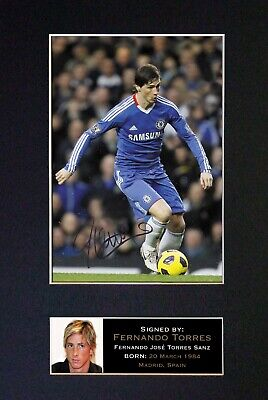 £19.99 • Buy #37 FERNANDO TORRES Reproduction Signature/Autograph Mounted Signed Photograph