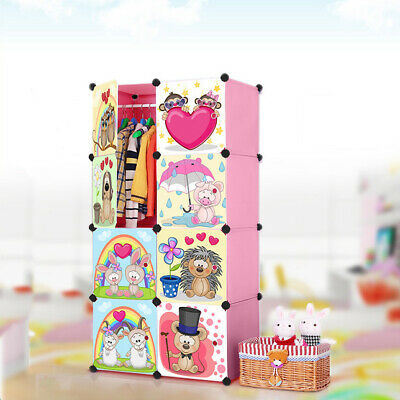AU41.99 • Buy 8 Cube Cute Kid Storage Cupboard Cabinet Wardrobe Rack Toy Book Shelve Organiser