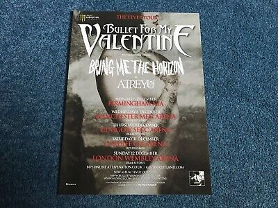 Bullet For My Valentine Tour Advertisement Poster - Kerrang! • 1.99£