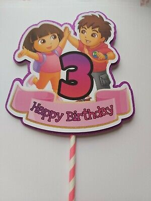 Dora The Explorer Cake Banner  (ANY AGE) Birthday Cake Party Decorations • 2.99£