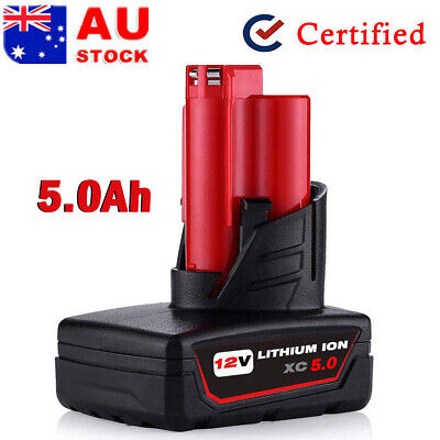 AU30.49 • Buy 12V For Milwaukee M12 B6 Lithium Battery XC 5.0 Ah M12 B4 48-11-2440 48-11-2420