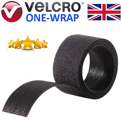 VELCRO® Brand ONE-WRAP® Cable Tie White Or Black Double Sided Reusable Strapping • 2.35£