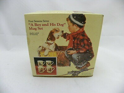 $ CDN20.13 • Buy NORMAN ROCKWELL MUGS  A Boy And His Dog  Set Of Four