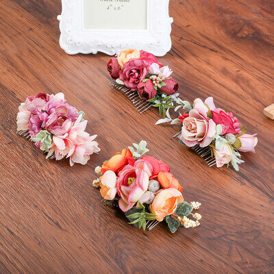 $ CDN5.24 • Buy Ladies Flower Hair Comb Slide Pins Clip Wedding Bride Headdress Hair Accessories