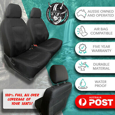 AU149 • Buy For Suzuki Jimny Black Front Car Seat Covers All Over Thick Waterproof Jacquard!