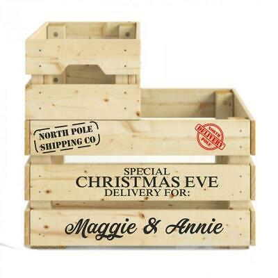 Christmas Eve Box Crate DIY Personalised Decal Set Sticker With North Pole Stamp • 3.89£