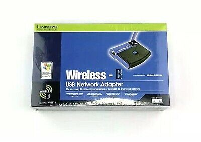 $19.55 • Buy Linksys Cisco Wireless B USB Network Adapter WUSB11 New Sealed Box 2.4 GHz