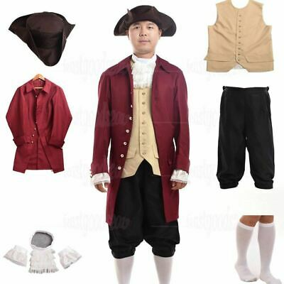 $68.99 • Buy Vintage Rococo Colonial Period Men's Cosplay Theater Reenactment Costume Outfit