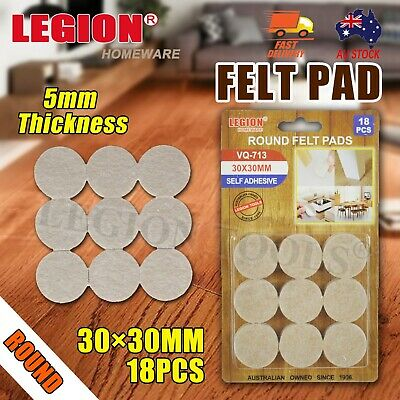 AU7.99 • Buy Felt Pad Furniture Floor Protector Pads Self Adhesive Round Heavy Duty 30mm 5mm