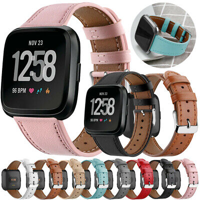 $ CDN9.88 • Buy Genuine Leather Wrist Band Smartwatch Replacement For Fitbit Versa/2/Versa Lite