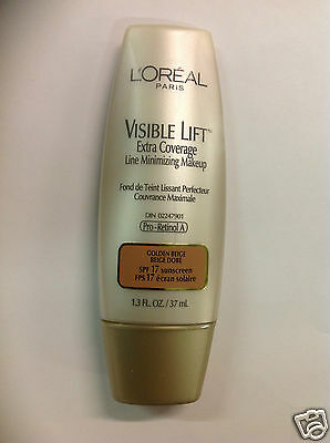 £16.79 • Buy L'Oreal Visible Lift Extra Coverage Foundation GOLDEN BEIGE NEW