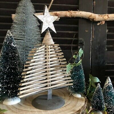 Nordic Scandi Style Silver Branch Woodland Table Top Christmas Tree Decoration • 9.99£