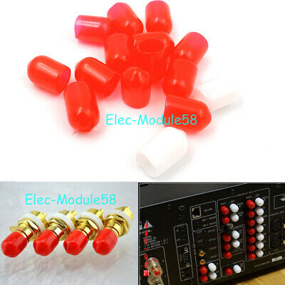 $ CDN2.88 • Buy 50pcs Hifi RCA Caps Lotus Audio Socket Anti-dust Hat Anti-oxidation Rubber Cover