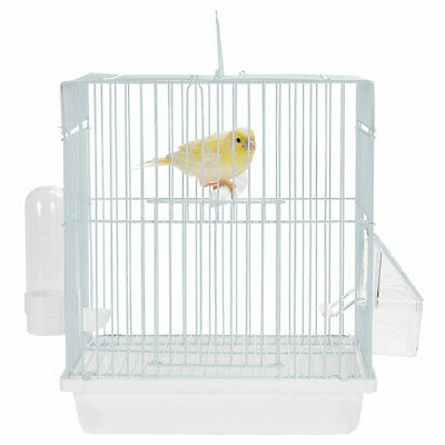 £15.35 • Buy Mali Small Bird Budgie Canary Finch Travel Cage Ice White Transport Your Bird
