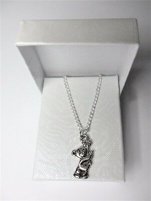 New Me To You Tatty Teddy Bear Pendant On A Silver Plated Fine Curb Necklace  • 16.95£