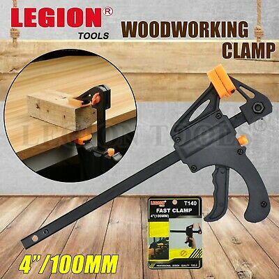 AU15.70 • Buy 4x Woodworking Clip Bar Clamp F-tyle Grip Quick Ratchet Release Squeeze Tools Au