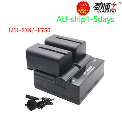AU65.52 • Buy 2X NP-F770 NP-F750 NP F770 750 Batteries + Dual Charger For Sony NP-F970 NP 960