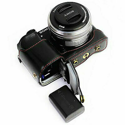 AU23.75 • Buy A6300-HH01 PU Leather Camera Case Bag Fit Sony ILCE6300 A6300 With 16-50mm Lens