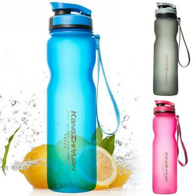 AU12.75 • Buy Water Bottle BPA-Free 1L Outdoor Sports Drinking Cycling Training Leak-Proof Cup