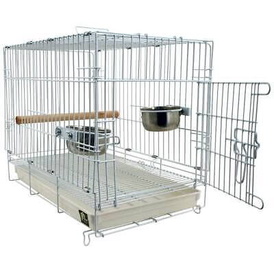 £104.31 • Buy Folding Travel Cage For Parrots And Pet Birds Parakeets Transport Birds Safely