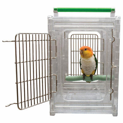 £168.31 • Buy Perch And Go Acrylic Carrier Travel Cage For Pet Birds And Parrots Parakeets