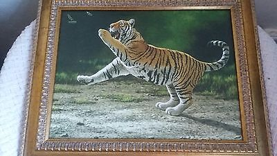 "Stephen Gayford On Canvas ""Out Of Reach"" Tiger  • 16£"