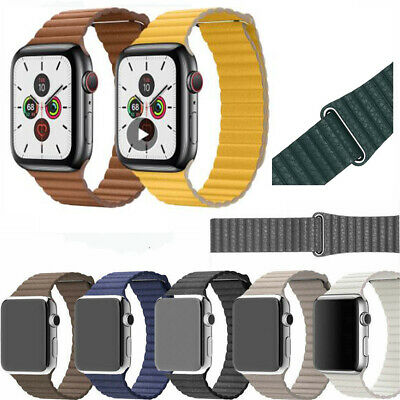 AU16.99 • Buy 2019 Magnetic Leather Loop Wrist Watch Band For Apple Watch Series 5 4 3 2 1
