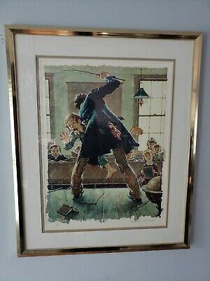 $ CDN800.03 • Buy Norman Rockwell  Spanking  Tom Sawyer Portfolio Signed # 179/200