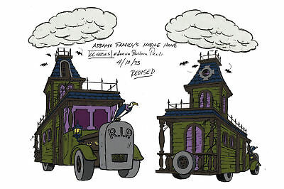 $ CDN21.17 • Buy Addams Family MOBILE HOME MODEL SHEET B HB Cartoon