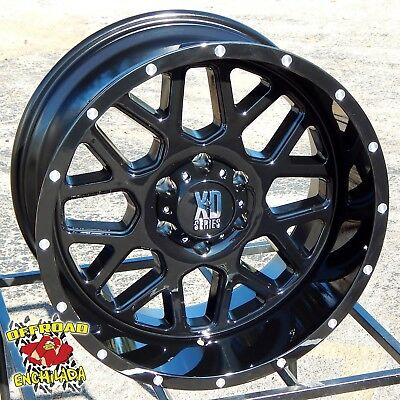 $1080 • Buy 20x10 GLOSS BLACK XD SERIES GRENADE WHEELS RIM FORD F-250 F-350 SUPER DUTY 8x170
